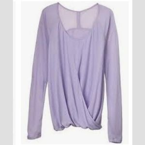 Athleta Neveah Layered Long Sleeve Lavender Size L